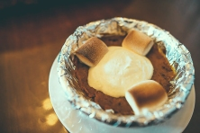 Pumpkin Puree with roasted mallows and cookhouse whip cream © Nathaniel Ngo Sy