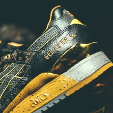 Singapore exclusive limited edition Asics Gel Lyte III Vanda Kuro. Laser etched Vanda floral design in supple black leather. Vanda is the national flower of Singapore.