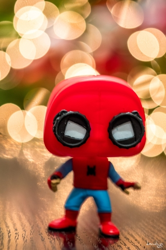 Spiderman is wishing you a most joyous CHRISTmas :)
